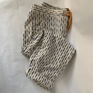 J. Crew / Blue, White Arrow Ikat Print Pants A7937